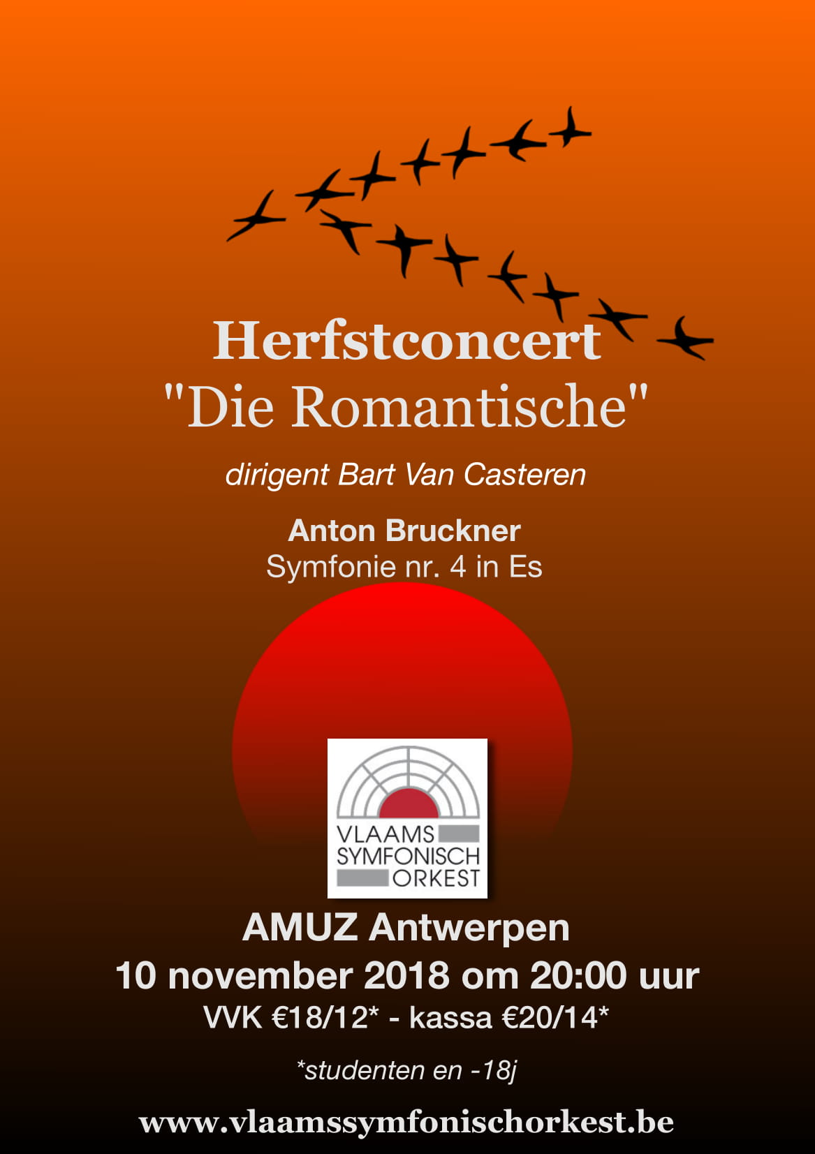 flyer Herfstconcert Die Romantische
